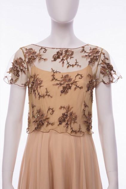 Isabella Luxury Embellished French Lace Jacket Top