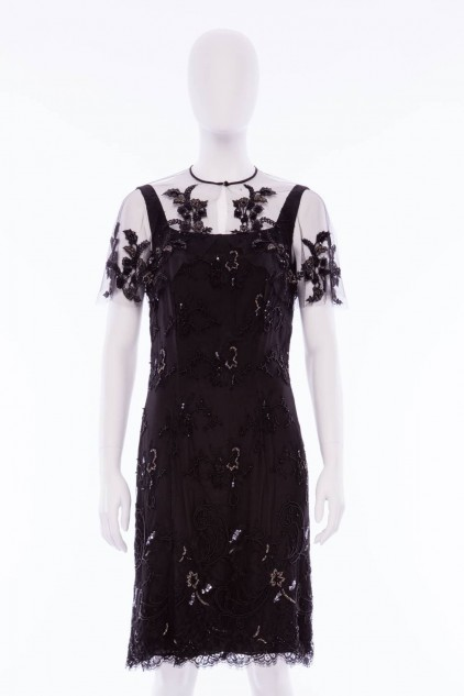 Charlotte 07 Black Embellished Sequin Cocktail Dress