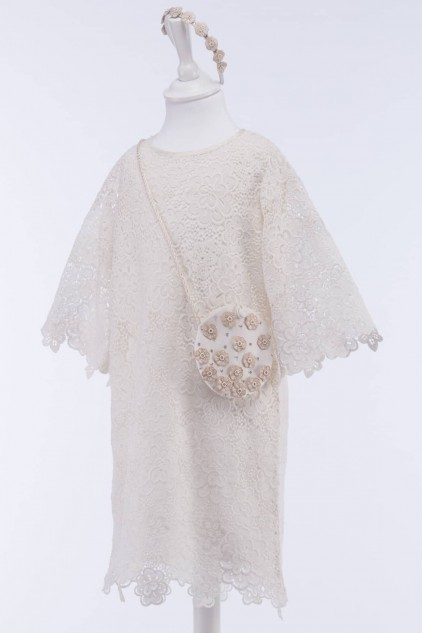 Lacey Vintage Guipure Lace Dress
