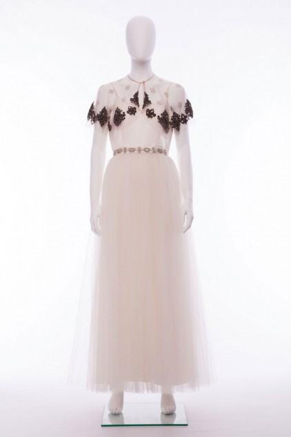 Darcey Hand Embellished Sequin Cape Wedding Dress