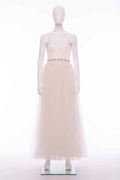 Aurora Ivory White Maxi Wedding Dress