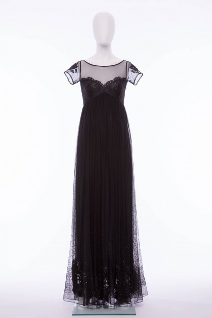 Charlotte 02 Vintage Black Evening Gown