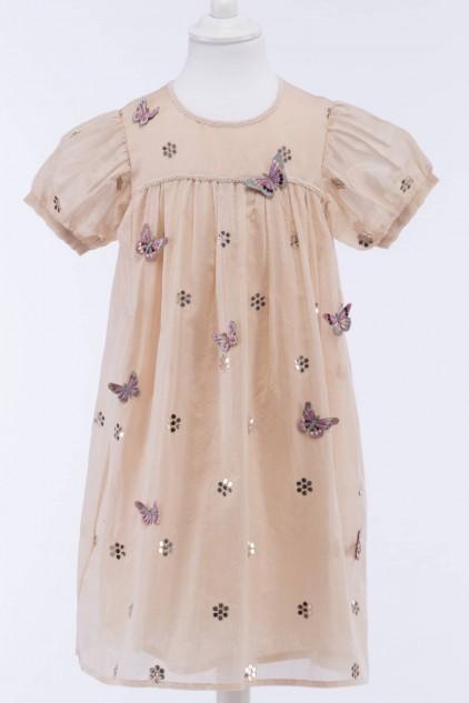 Samaya Indian Cotton Silk Chanderi Dress