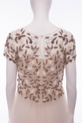 Hand Embellished Sequin Capped Sleeve Bolero Cropped Top