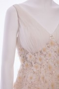 Georgette Vintage Ruched Tulle Wedding Embellished Bridal Dress