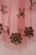 Scarlett Gold Sequin Cape Wedding Dress