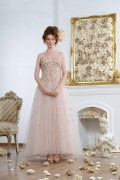 Elizabeth 02 Special Occasion Tulle French Lace sequin Embroidered Wedding Dress