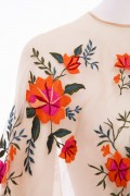 Summer Meadow Floral Embroidered Tulle Cape