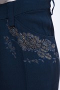 Jane 02 Vintage Navy Blue Corset Sequin Top with Lace Trouser Special Occasion Wear