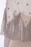 Anastesia Ivory Silver Sequin Wedding Bridal Dress