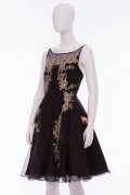 Charlotte 06 French Lace Black Cocktail Dress